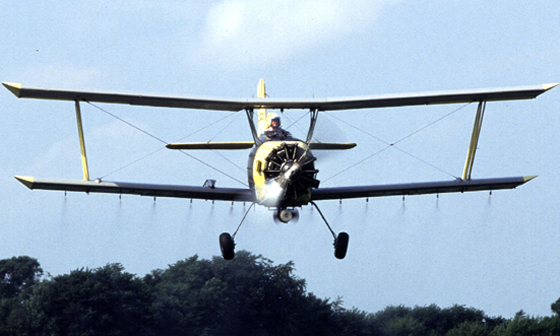 Aerial Spraying for gypsy moths